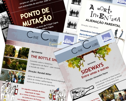 Cartazes para divulgação do Cine Clube - Amperj
