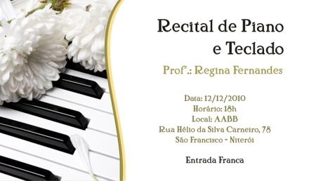 Convite - Recital (modelo escolhido)